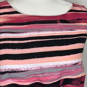 LOFT Dresses - Loft Pink Striped Sheath Dress